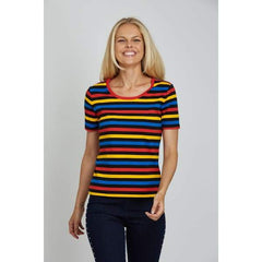 Multi Stripe Tee - Multi - Top