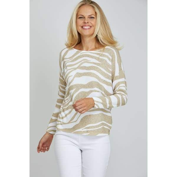 Natural Animal Sweater - Natural - Sweater