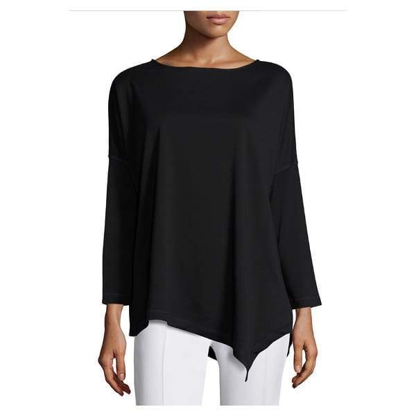 Oversized Asymmetric Top - Black - Top