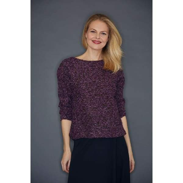 Purple Boucle Pullover - Purple - Top