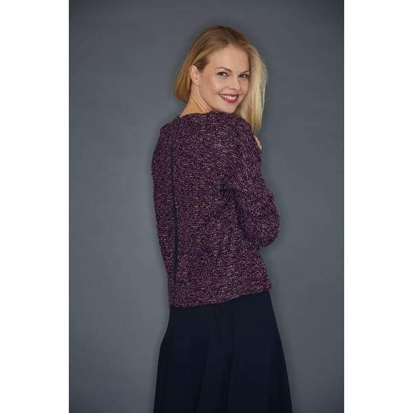 Purple Boucle Pullover - Top