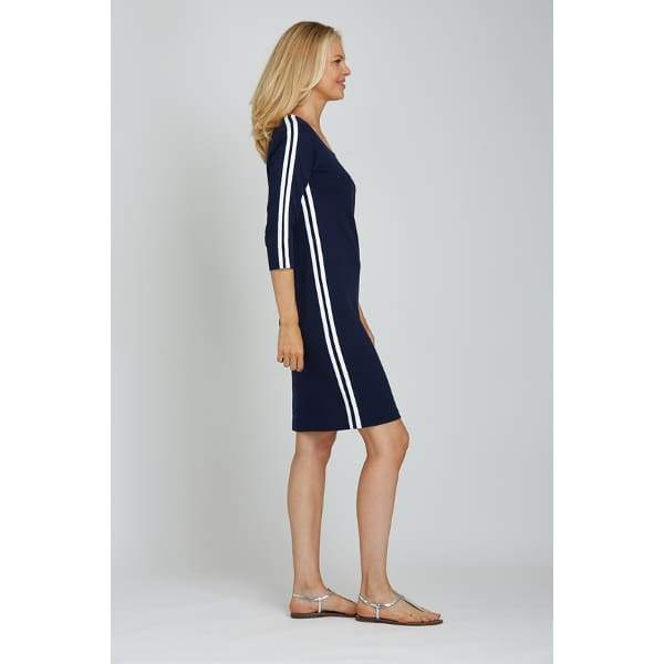 Racing Stripe Dress - Dress