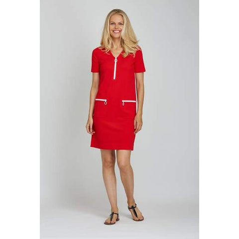 Red Mod Dress - Red - Dress