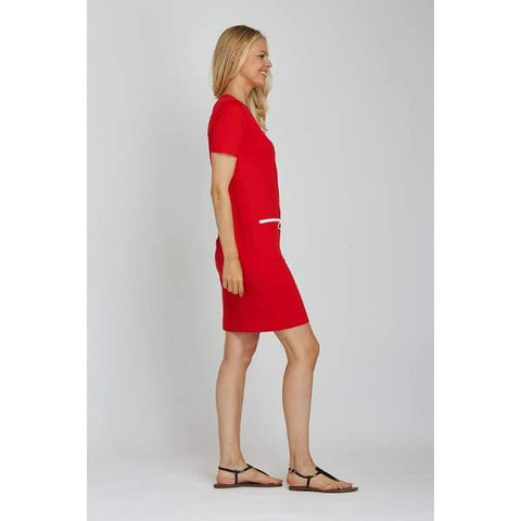 Red Mod Dress - Dress