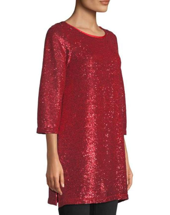 Red Sequins Easy Tunic - Tunic