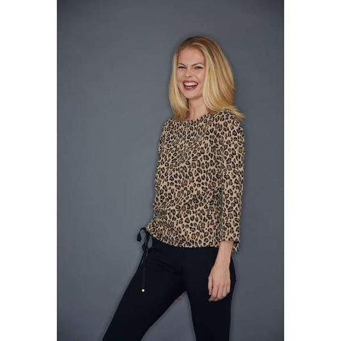 Rouched Animal Top - Top