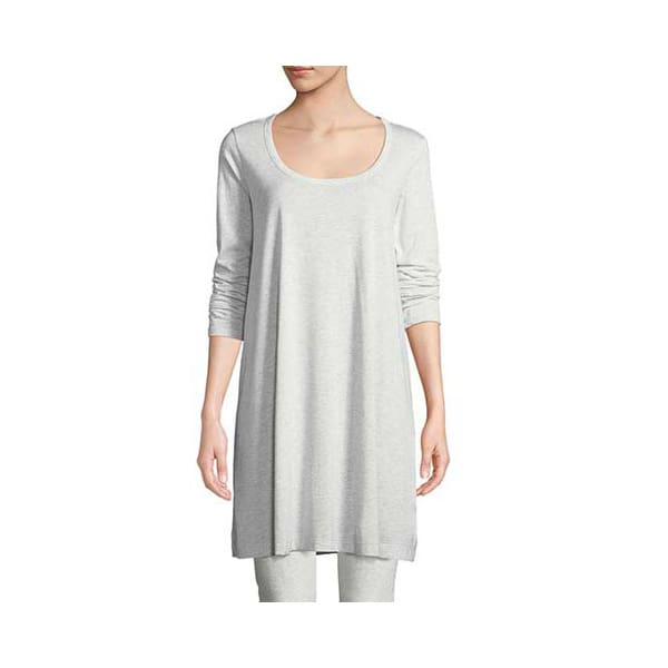 Scoop Neck Tunic Top - Dove Heather - Tunic
