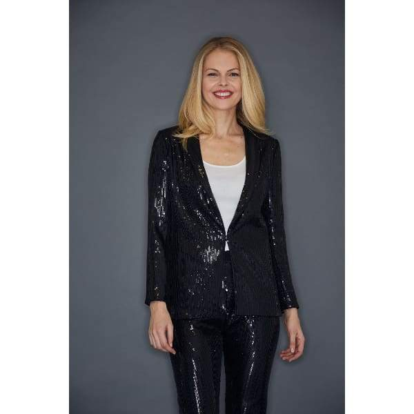 Sequin Jacket - Black - Jacket