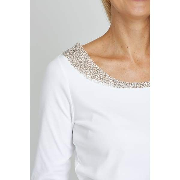 Sequin Neck Top - Top