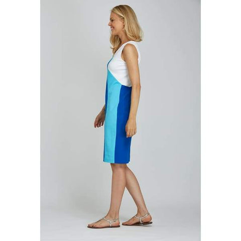 Sleeveless Colorblock Dress - Dress