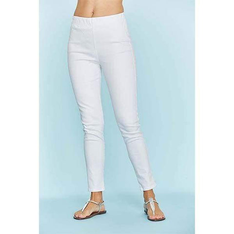 Slim Ankle White Stretch Jeans - 00 / White - Pants Bottom