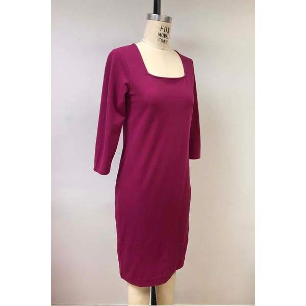 Square Neckline Dress - Dress