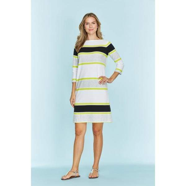 Stripe Bateau Dress - Black Cbo - Dress