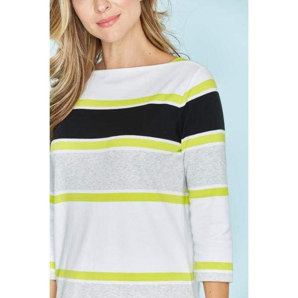 Stripe Bateau Dress - Dress