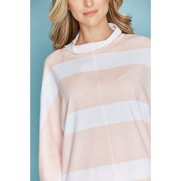 Stripe Mock Pullover - Top