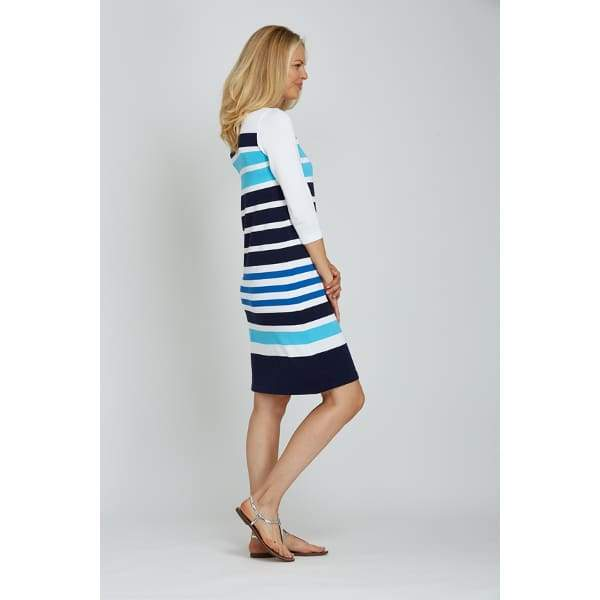 Stripe Sweater Dress - Dress