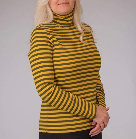Stripe Turtleneck - Ioden - Top