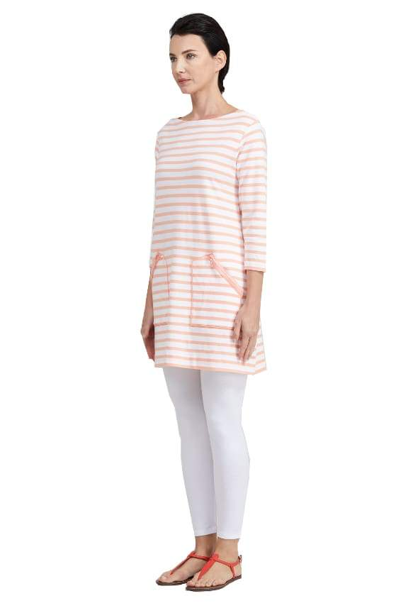 Striped 2 Pocket Tunic - Top