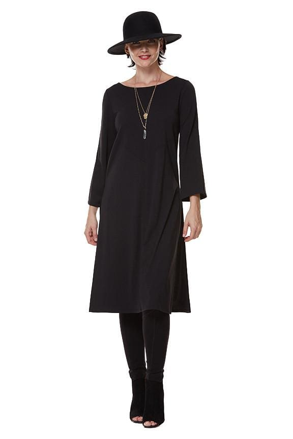 The Long Seamed Tunic - black - Tunic