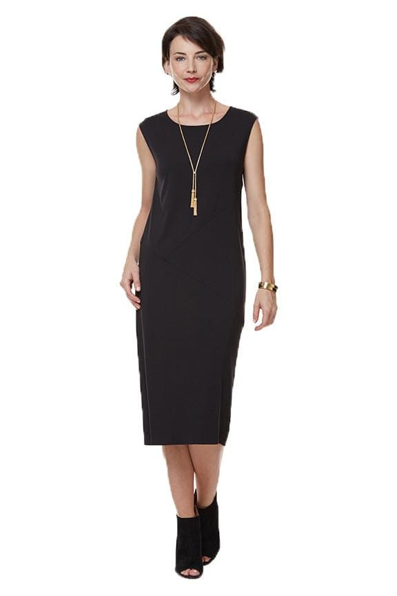 The Sleeveless Seamed Dress - black - Dress