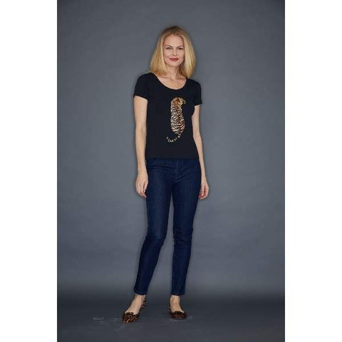 Tiger Sequin Tee - Top