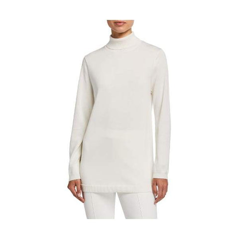 Turtleneck Tunic Sweater - Ivory - Sweater