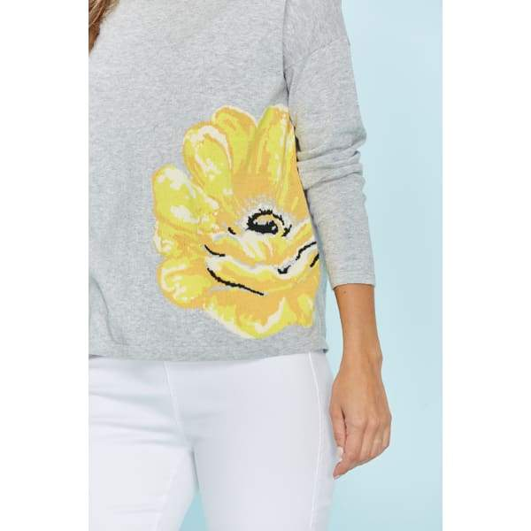 Yellow Flower Sweater - Sweater