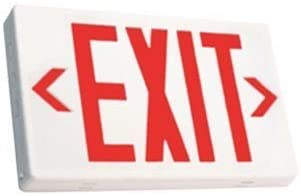 LED Red Edglite Exit Sign with Battery Back-up