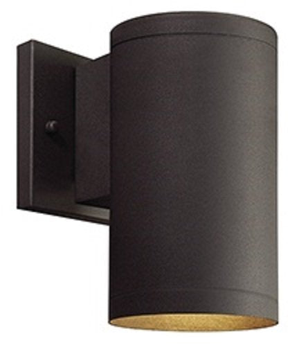 Outdoor LED Light Fixture By Ciata Decor: Wall Mount Down cylinder Porch Lighting–Waterproof And Weatherproof Frame With Elegant Bronze Finish–5000K daylights Temperature