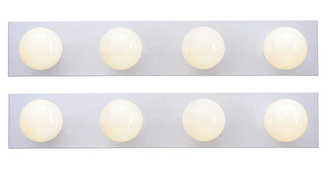 Ciata Lighting 4-Light Interior Bath Bar, White Finish (Four Light - 2 Pack)