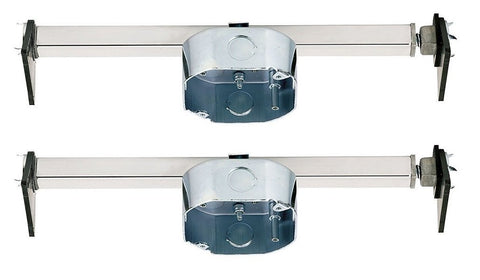 Ciata Lighting Saf-T-Brace for Ceiling Fans, 3 Teeth, Twist and Lock - 2 Pack