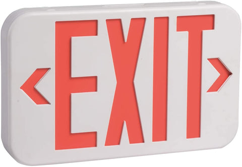 Bright LED Exit Sign with Battery Backup,6-inch Red Letters