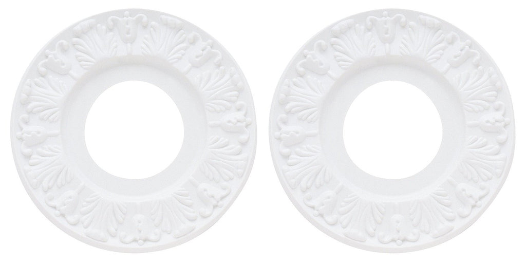 "Ciata Lighting Victorian Ceiling Medallion, 10"", White Finish - 2 Pack"