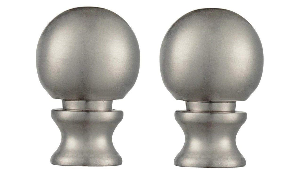 "Ciata Lighting 1-1/2"" Brushed Nickel Ball Lamp Finial Pack of 2"