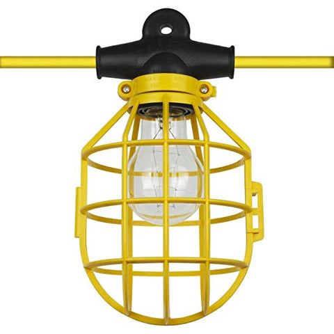 Ciata Lighting Temporary String Light, Plastic Guard, with Plug & Connector, 100-Foot (With Plug)