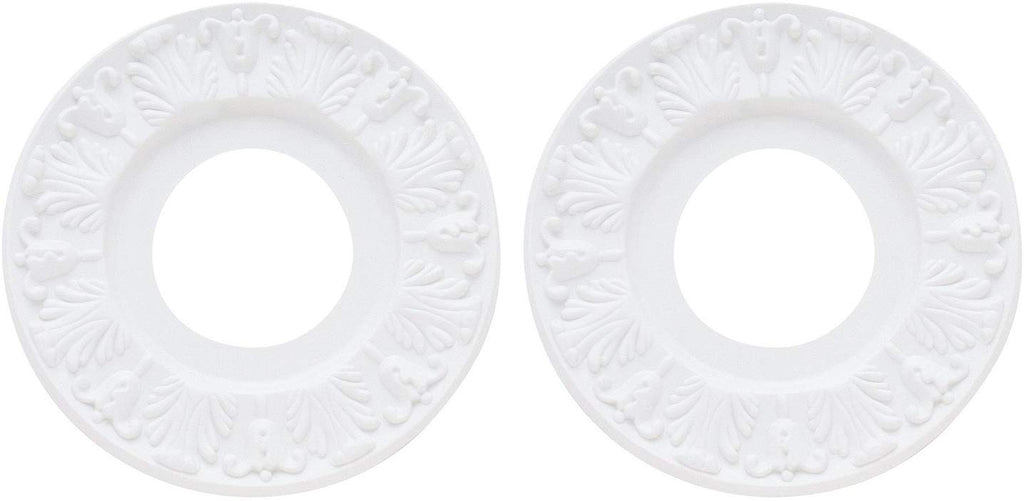 Ciata Lighting Ceiling Medallions, Molded Plastic, 10 Inch Dia White Finish (2 Pack)
