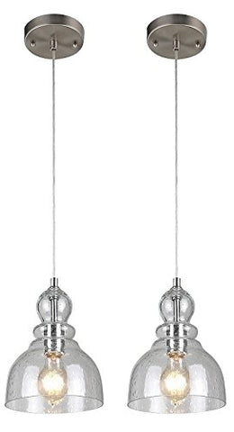 Ciata Decor One-Light Adjustable Mini Pendant - 2-Pack