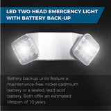 LED Emergency Light | Ultra-Bright White Light with Back-up Battery, Adjustable Lamps & 90-Minute Minimum Capacity | Made from Engineering-Grade & Injection-Molded Thermoplasti (White)