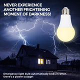 Ciata Lighting LED Smart Emergency Light Bulb with Rechargeable Battery Back-up - Intelligent Lighting, Lasts 3-4 Hours During Power Outage - Extra Hook for Camping, Outdoor (2 Pack)