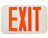 Ciata All LED Decorative Red Exit Sign & Emergency Light Combo with Battery Backup