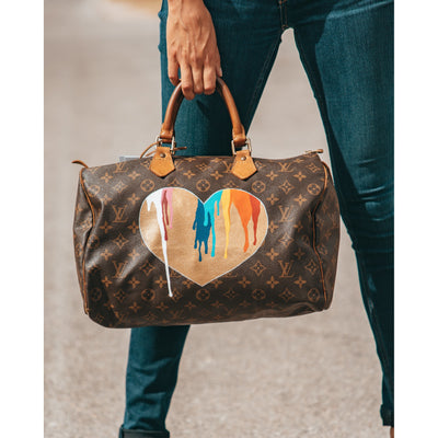 Bleeding Rainbow Heart - Louis Vuitton Speedy Bag by New Vintage