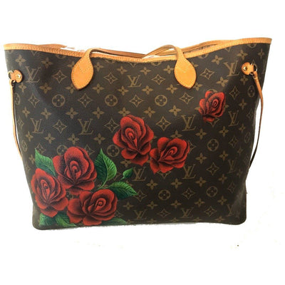Falling Roses- Louis Vuitton Neverfull GM Bag by New Vintage