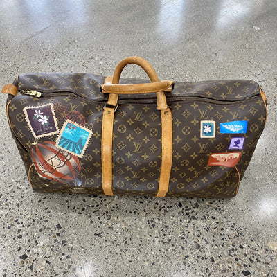 Overnighted Artwork, Painted on a Louis Vuitton Keepall 60 Bag by New Vintage