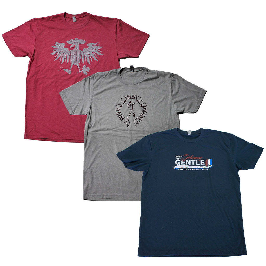 Infinite Jest David Foster Wallace 3-Tee Pack