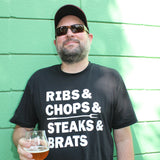 Just Grillin: Meat List Shirt for the Griller or BBQer