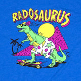 Radosaurus! Stranger Things Retro 80s Dinosaur Skateboarding Shirt