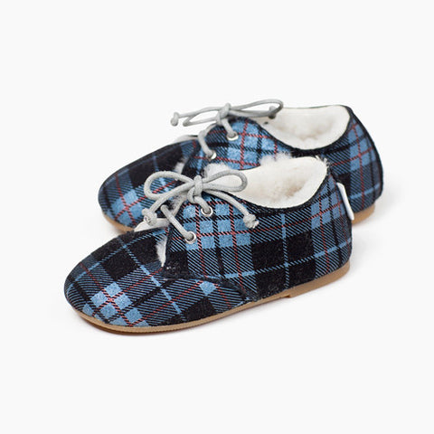 Tots Wooly Hobe Blue Plaid