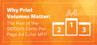 Why Print Volumes Matter: The Rise of the $1000/5 Cents Per Page A4 Color MFP