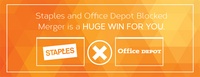 If you are an imaging technology dealer, then the Staples and Office Depot blocked merger is a HUGE WIN FOR YOU.