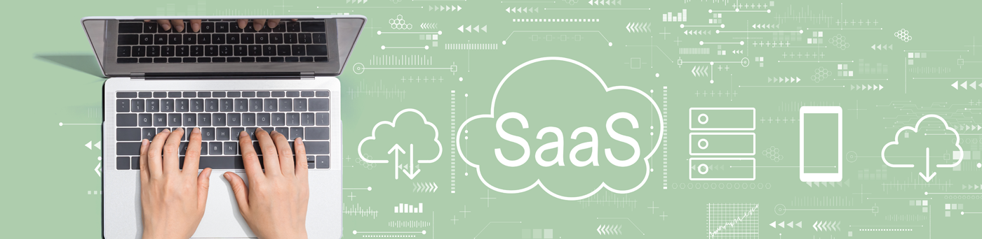 Graphic promoting SaaS